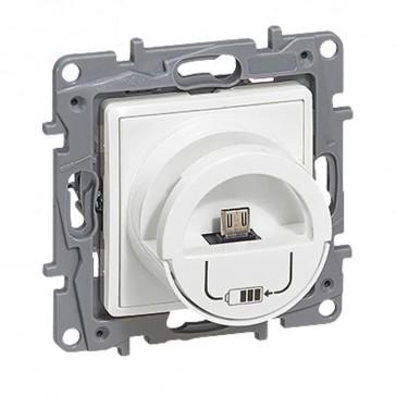 Micro USB charging socket Niloé - white