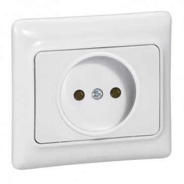 2P socket outlet with shutters Kaptika - flush mounting - 16 A 250 V~ - white