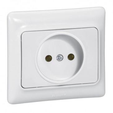 2P socket outlet Kaptika - flush mounting - 16 A 250 V~ - white