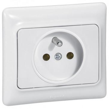 2P+E French standard socket outlet Kaptika - flush mounting - 16 A 250 V~ - white