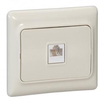 RJ 45 socket Kaptika - flush mounting - UTP category 5e - ivory