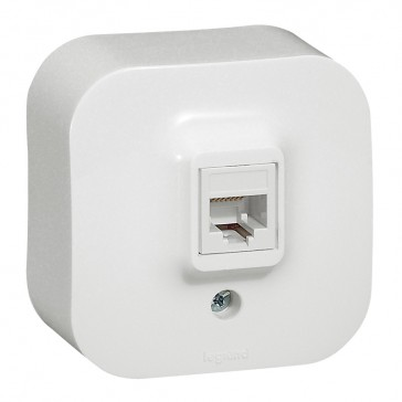 RJ 45 socket Forix - surface mounting - IP2X - UTP category 5e - white