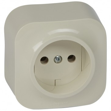 2P socket outlet Forix - surface mounting - IP2X - 16 A 250 V~ - ivory