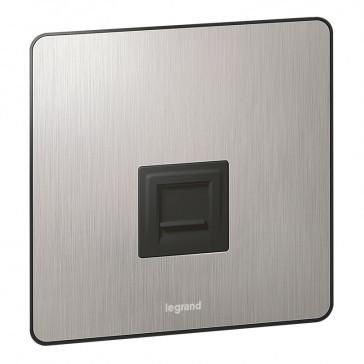 Telephone socket Synergy - UK master - Sleek Design brushed stainless steel