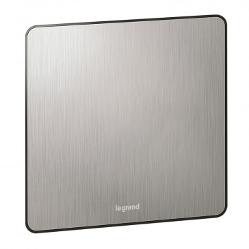 Blanking plate Synergy - 1 gang - Sleek Design brushed stainless steel