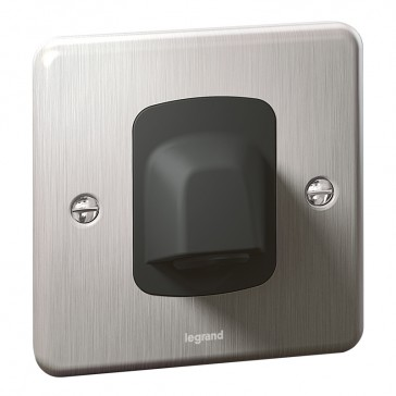 Cable outlet Synergy - 20 A 250 V~ -Authentic brushed stainless steel