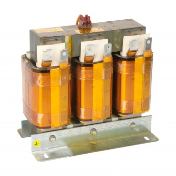 Detuned reactor three-phase 50 Hz tuning frequency 189Hz for three-phase capacitors - Ln 1.73 mH - I RMS 40.4 A