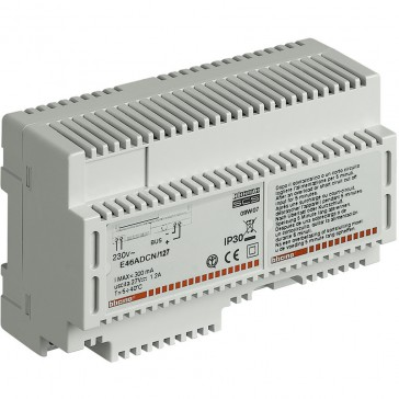 Power supply input 127 V~ output 27 V= 1.2 A for MyHOME_Up installation - 8 DIN modules