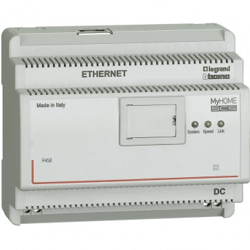 IP server for hotel room management systems with over 100 rooms or zones - 6 DIN modules