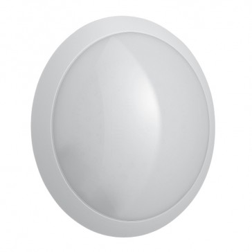 Chartres Essentiel LED round decorative bulkhead light - IP55 - IK10 - equipped - with microwave sensor