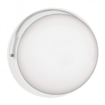 Astreo LED round decorative bulkhead light - IP44 - IK07 - equipped - 800 lm - with microwave sensor