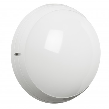 Astreo LED round decorative bulkhead light - IP44 - IK09 vandal-resistant - equipped - 800 lm - with microwave sensor