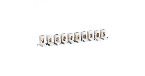 line taps - capacity per tap 2x35 mm u00b2 - width 25 mm - strip of 10 separable - 0 340 04