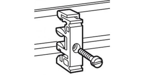 fixing equipment - on rails en 60715 - for m4 screw