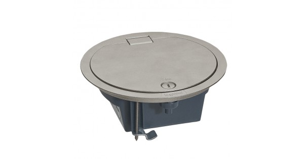 Floor Box With Hinged Lid Ip66 4 Modules Stainless