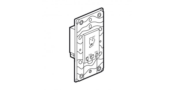 shaver socket arteor 230 v    120-230 v - 3 modules - white - 5 721 55