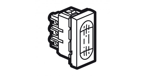 buzzer arteor 230 v - 1 module - white - 5 722 04