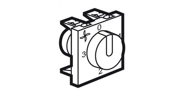 fan controller arteor - ac speed control - 4 positions - 2 modules - magnesium - 5 727 17