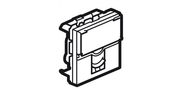 telephone socket arteor - rj11 - 4 contacts - 2 modules - magnesium - 5 728 12