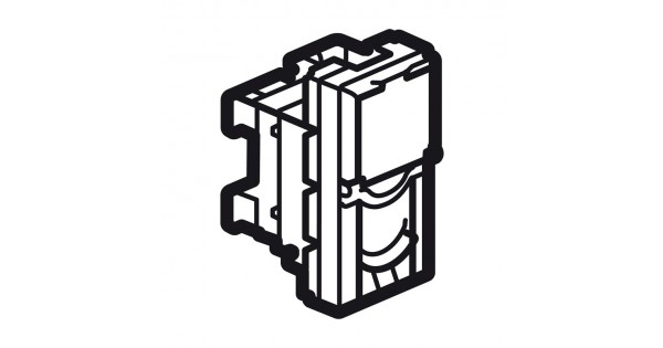 rj45 socket arteor - category 6a utp - 1 module