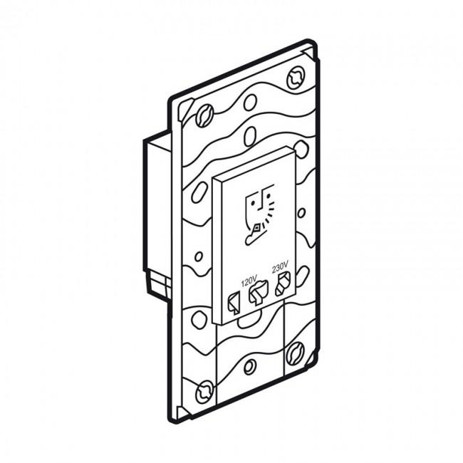 shaver socket arteor 230 v    120-230 v - 3 modules
