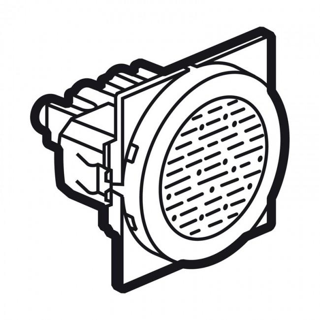 buzzer arteor 230 v - 2 round modules - white - 230 v