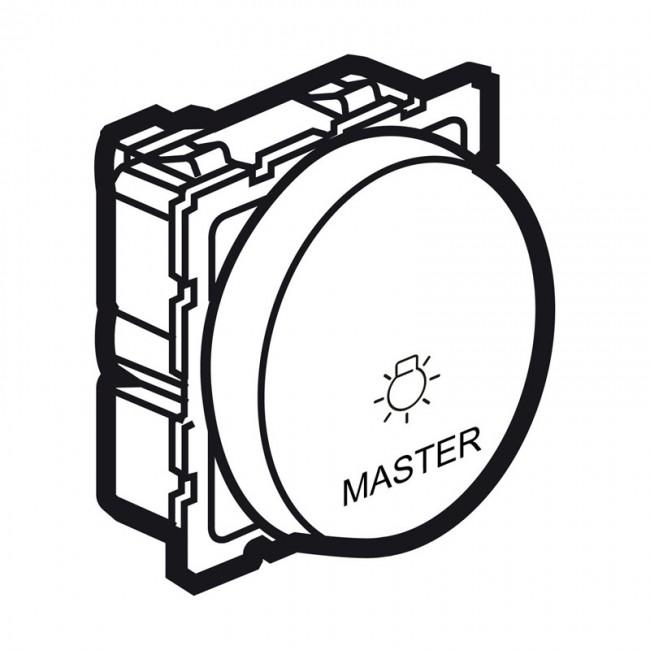 master push-button arteor for lighting control - 2 round modules - magnesium - 5 737 87