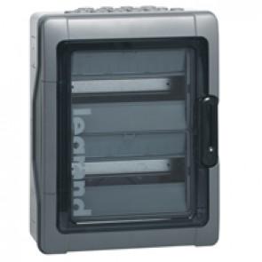 Cabinets PLEXO³ - IP65 - IK09 - 2 rows - 12 modules