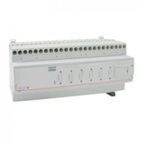 DIN controller BUS/SCS - for dimming LEDs, CFL - 6 outputs