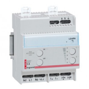 Remote control dimmer - for fluorescent lamp with 0-10 V ballast - 4 modules