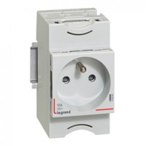 Socket outlet - 10/16 A 250 V~ - 2P+E - shuttered - french standard - Lexic