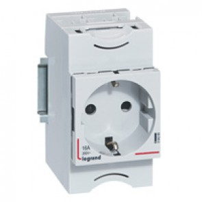 Socket outlet - 10/16 A 250 V~ - 2P+E - shuttered - german standard - Lexic