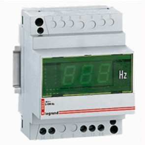 Digital frequency meter Lexic - 40-80 Hz display - 4 modules - fixing on rail