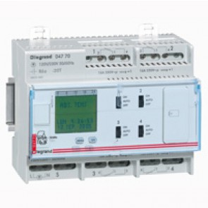 Programmable time switch digital - multifunction annual prog. - 4 outputs