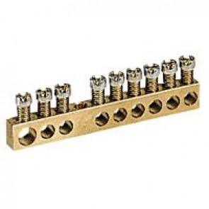Screw terminal block - 1 x 6 to 25Ø - 4 x1.5 to 16Ø - L. 45 mm