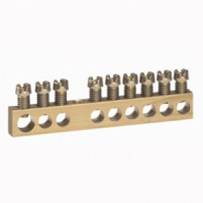 Screw terminal block - 1 x 6 to 25Ø - 8 x 1.5 to 16Ø - L. 73 mm