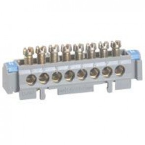 Terminal block on support - 8 x 1.5 to 16² - L. 75 mm