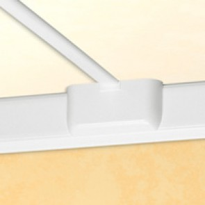 Junction for change of plane - for flexible cover DLP trunking cover width 65 mm - white