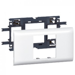 Mosaic support - for flexible cover DLP trunking cover depth 65 mm - 2 modules