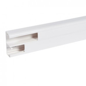 Flexible cover snap-on DLP trunking - 2 compartments - 50 x 145 - with cover 45 mm - 2.5 m - white