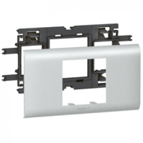 Mosaic / Arteor support-for aluminium adaptable DLP cover depth 65 mm - 2 modules