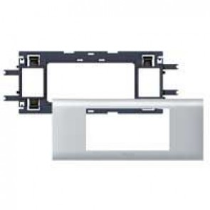 Mosaic / Arteor support-for aluminium adaptable DLP cover depth 65 mm - 4 modules