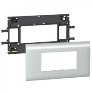 Mosaic / Arteor support-for aluminium adaptable DLP cover depth 85 mm - 4 modules