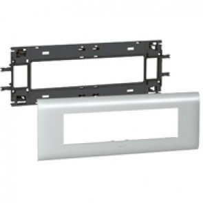 Mosaic / Arteor support-for aluminium adaptable DLP cover depth 85 mm - 8 modules