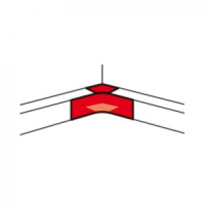 Internal angle - for aluminium adaptable DLP trunking 65x195