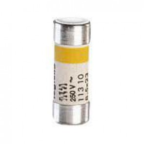 Domestic cartridge fuse - cylindrical type 8.5 x 23 - 6 A - with indicator