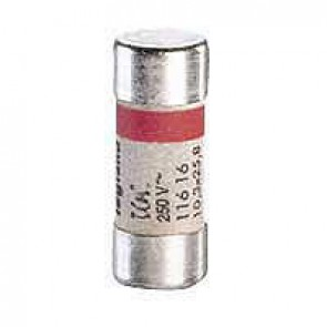 Domestic cartridge fuse - cylindrical type 10.3 x 25.8 - 16 A - without indicator