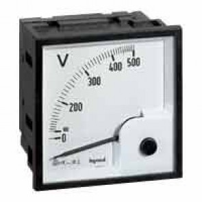 Ammeter - square barrel 68x68 mm - for fixing on door