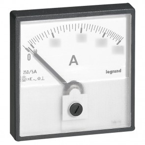 Measuring dial for ammeter - 0-50 A - fixing on door