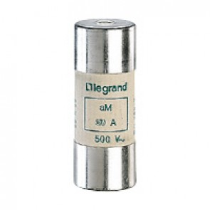 HRC cartridge fuse - cylindrical type aM 22 X 58 - 25 A - without indicator